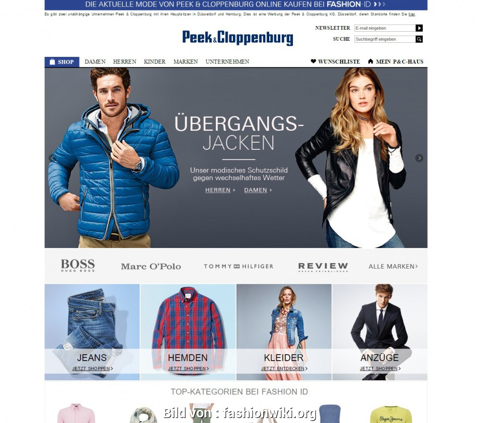 Glamourös Peek, Cloppenburg Essen Online Shop