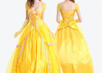 Brilliant Gelbes Ballkleid Belle
