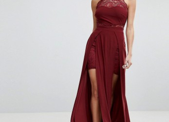 Ideal Abendkleid, Schlitz