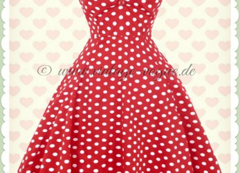Ideal Rotes Punkte Kleid