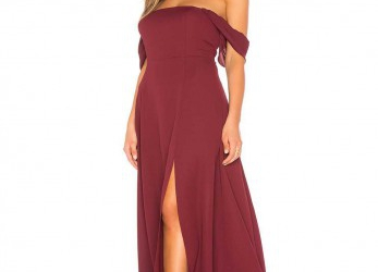 Sinnvoll Off Shoulder Kleid Lang
