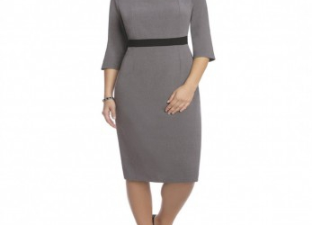 Elegant Business Kleid Grau
