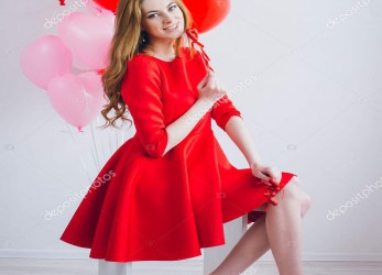 Gut Rotes Kleid A Form